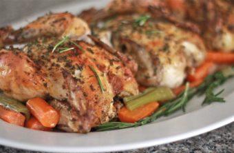 easy roasted cornish hens