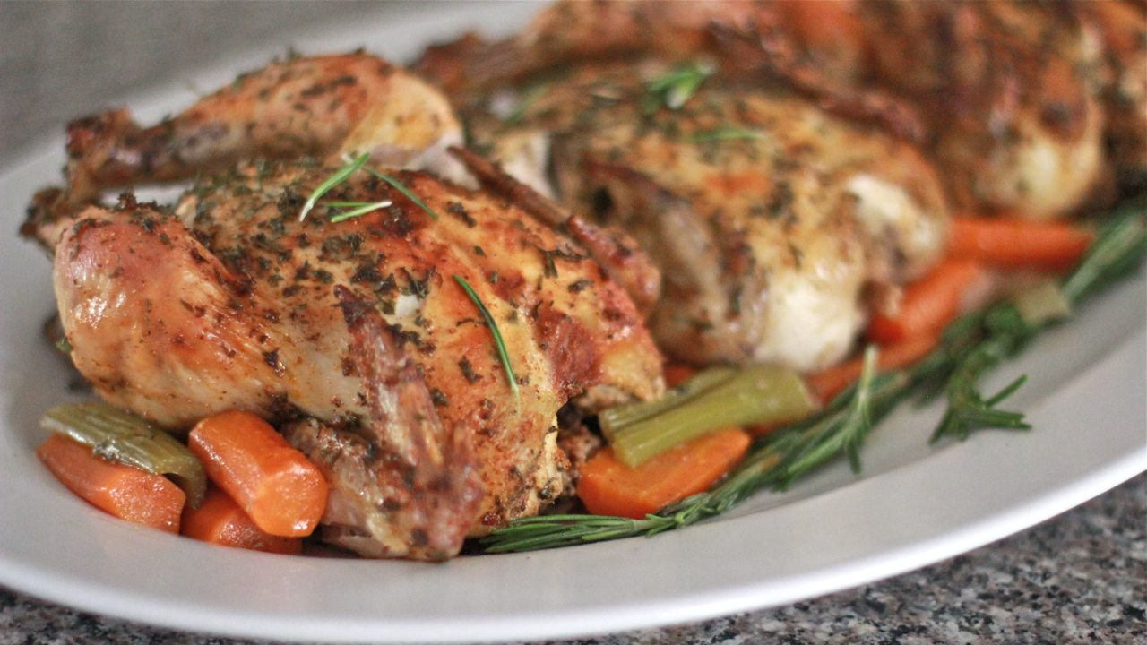 Easy Roasted Cornish Hens