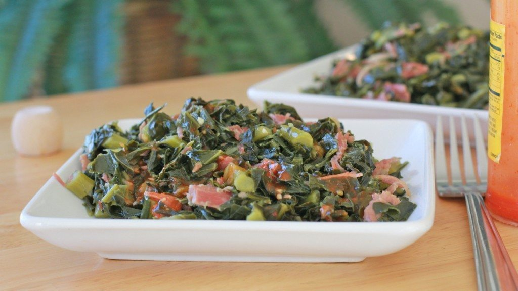 southern soul food collard greens recipe