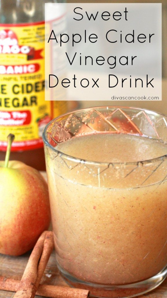 Sweet apple cider detox drink