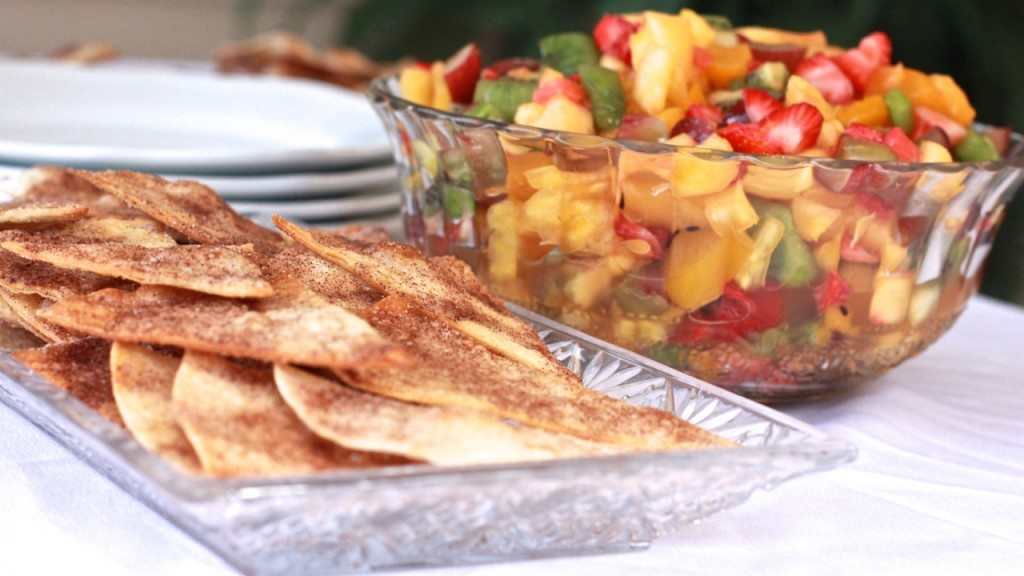 best fruit salsa cinnamon tortilla chips