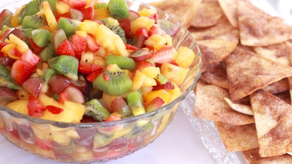fruit salsa cinnamon tortilla chips recipe