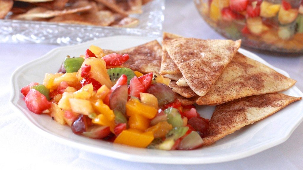 fruit salsa easy cinnamon tortilla chips