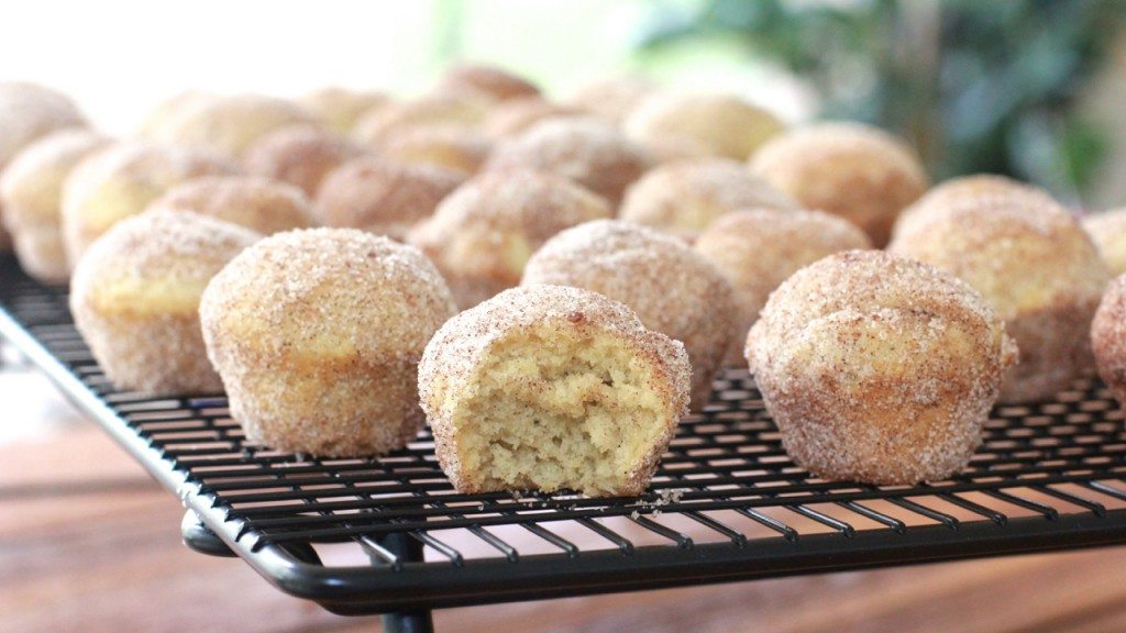easy cinnamon sugar doughnut muffins recipe