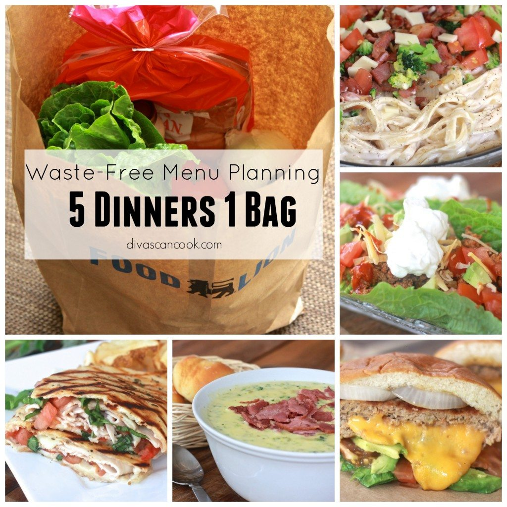 Waste free menu planning with foodlion 5 dinners 1 bag divas can cook the recipe forumfinder Image collections