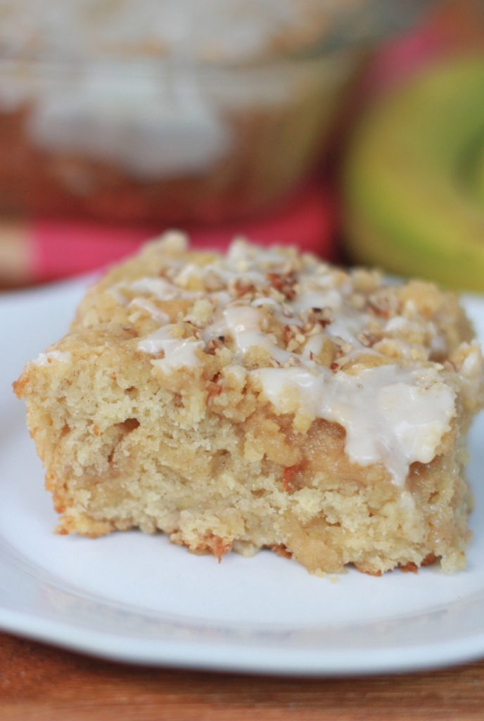 banana bread coffee cake rum glaze