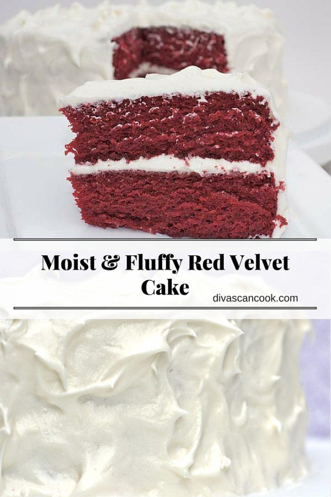 Moist & Fluffy Red Velvet Cake