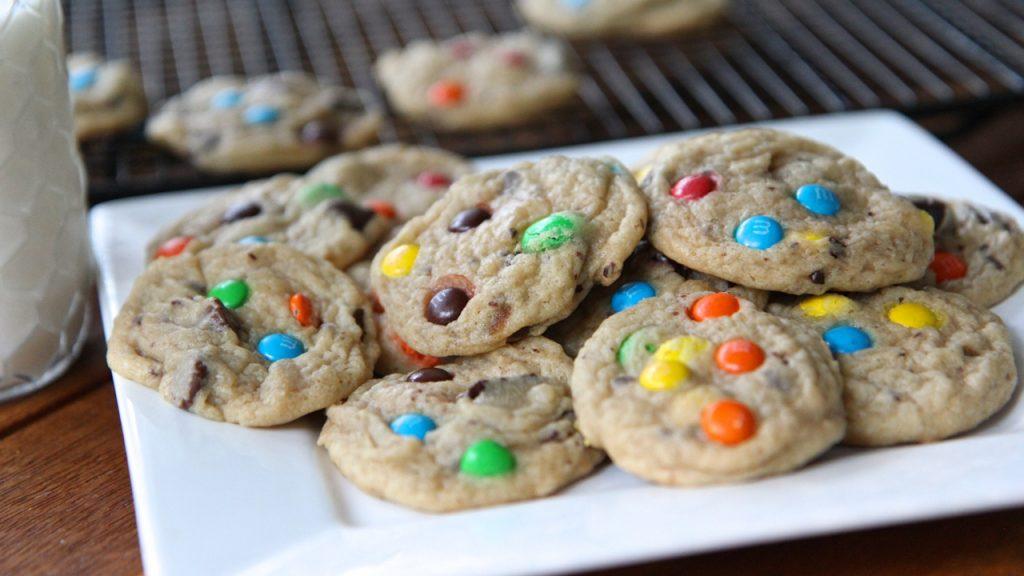 homemade m&m cookies recipe