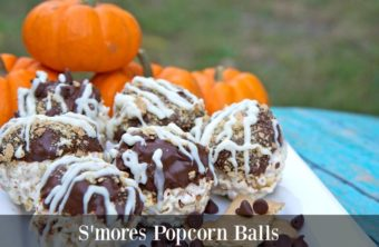 The BEST S'mores Popcorn Balls