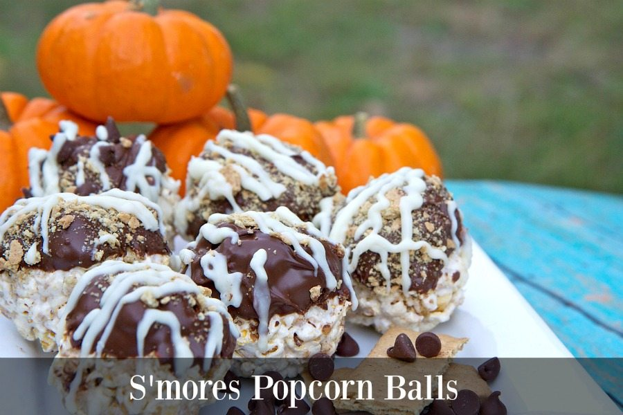smores popcorn balls