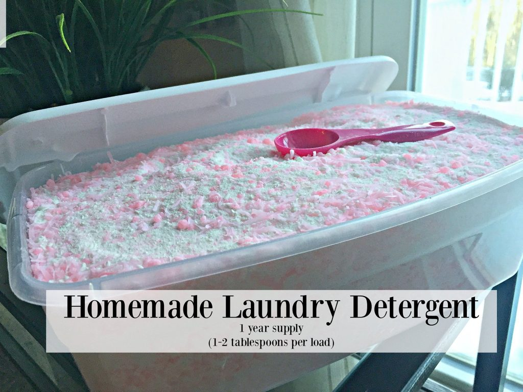 Homemade Laundry Detergent Recipe- HE safe