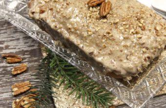 Butter Pecan Bread w/ Butter Pecan Cream Cheese Glaze