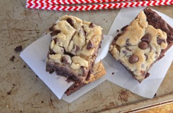 Homemade Chocolate Chip Cookie Brownies