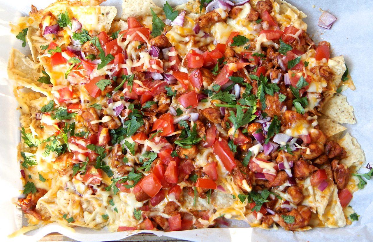 easy bbq chicken nachos