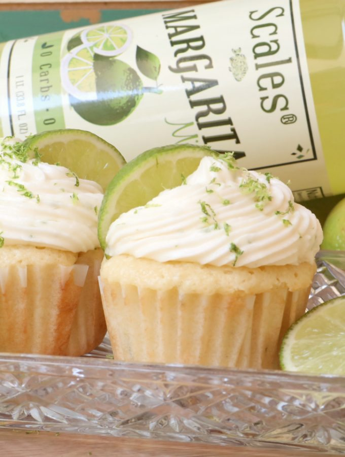 Easy Margarita Cupcakes + Margarita Buttercream Frosting