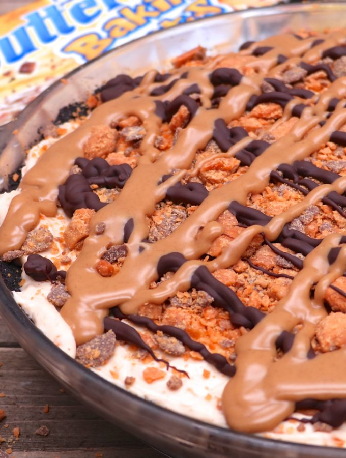 No-Bake Peanut Butter Butterfinger Pie