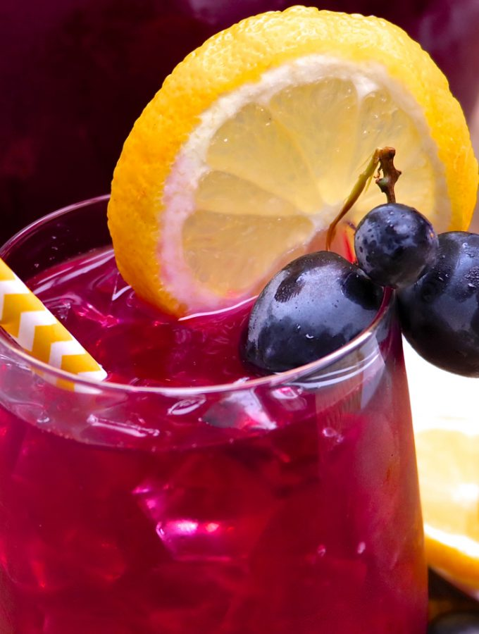 Fresh Black Grape Lemonade