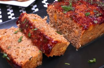 Cheesy BBQ Turkey Meatloaf