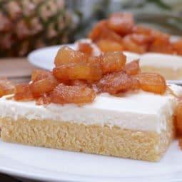 Grilled Pineapple Shortcake Bars Recipe