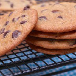 thin crispy chocolate chip cookies