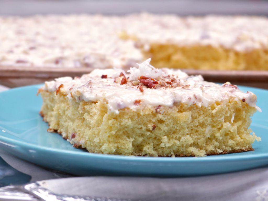 Italian Cream Sheet Cake