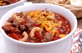 Old Fashioned Beef & Macaroni Soup