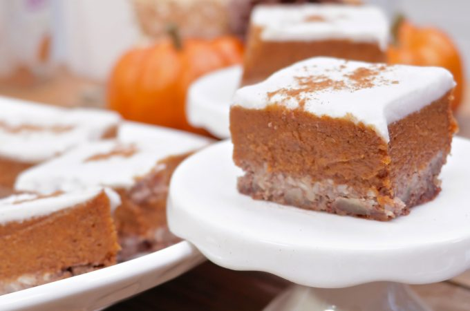 Frosted Paleo Pumpkin Pie Bars
