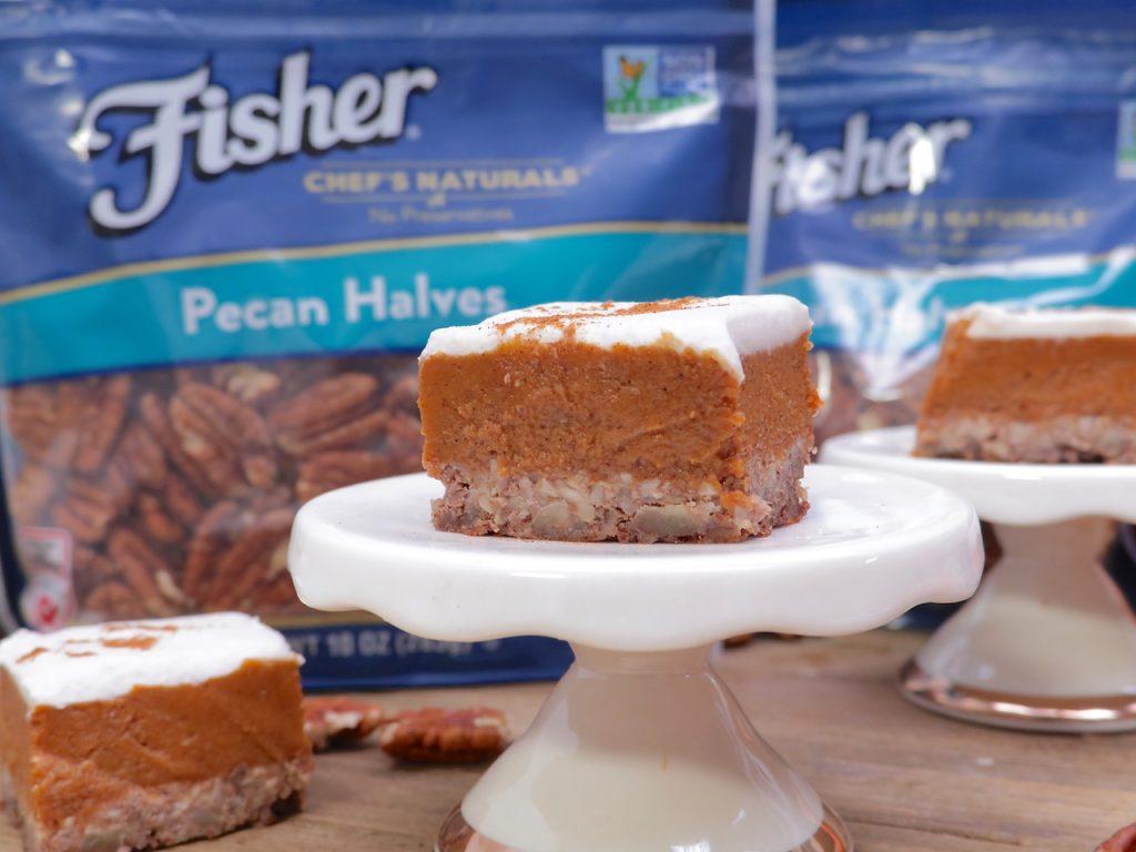 Frosted Paleo Pumpkin Pie Bars Recipe