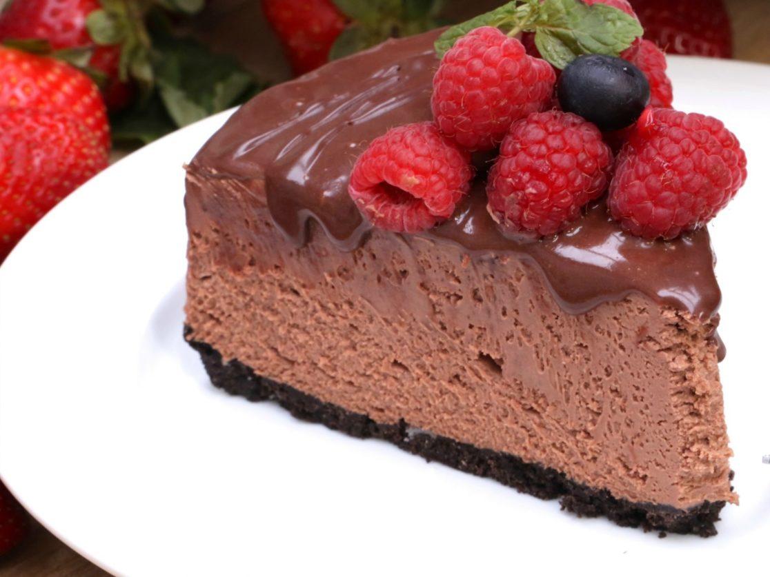 unbaked chocolate cake
