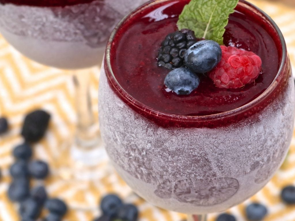 berry wine slushies