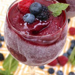 berry wine slushies