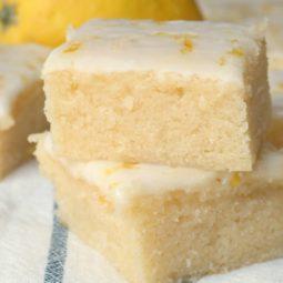 glazed lemon brownies recipe