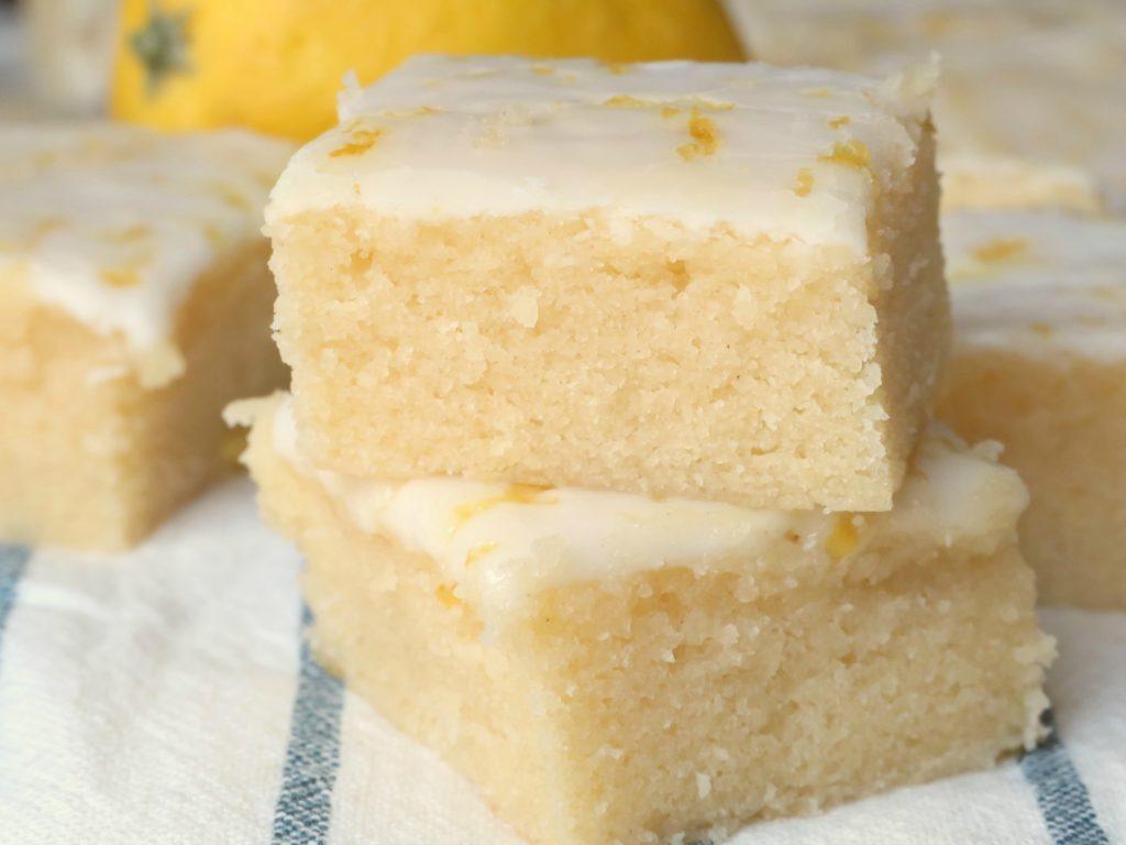 glazed lemon brownies cake mix