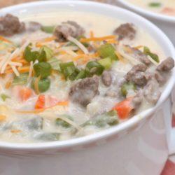 creamy sausage & vegetable potato soup