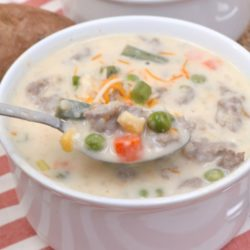 creamy sausage & vegetable potato soup