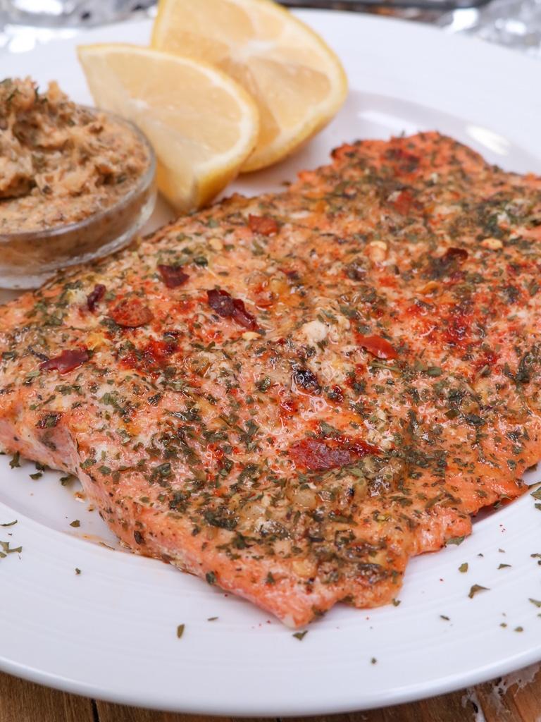 Cowboy butter salmon