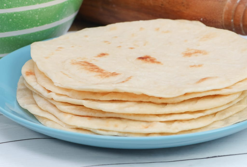 Soft Chewy Homemade Flour Tortilla