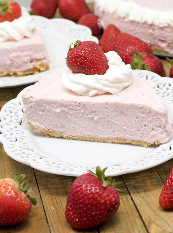 no-bake strawberry cheesecake recipe