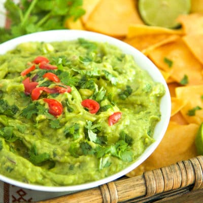 guacamole recipe and chipotle lime chips