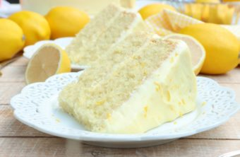homemade lemon velvet cake