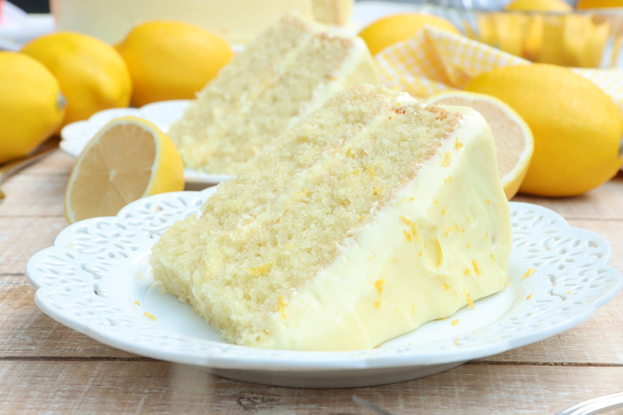 homemade lemon velvet cake