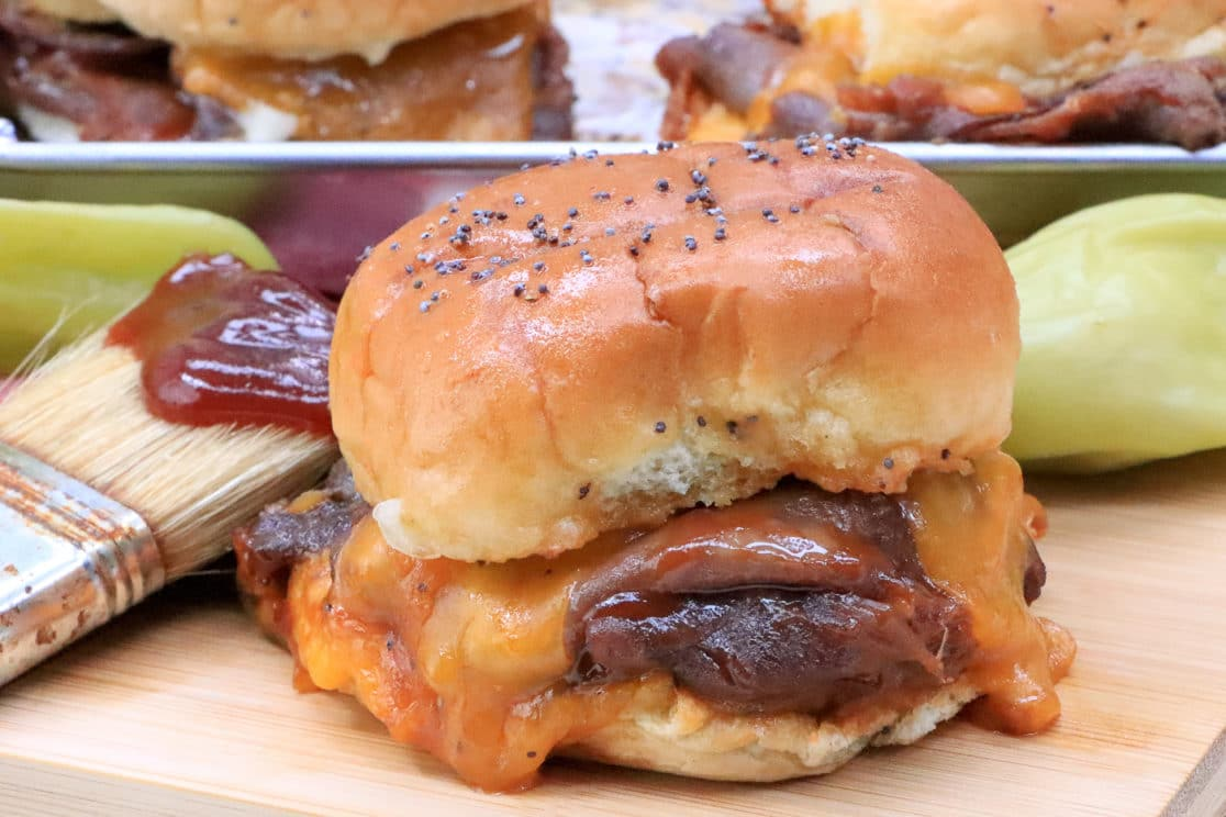 roast beef and cheddar slider recipe