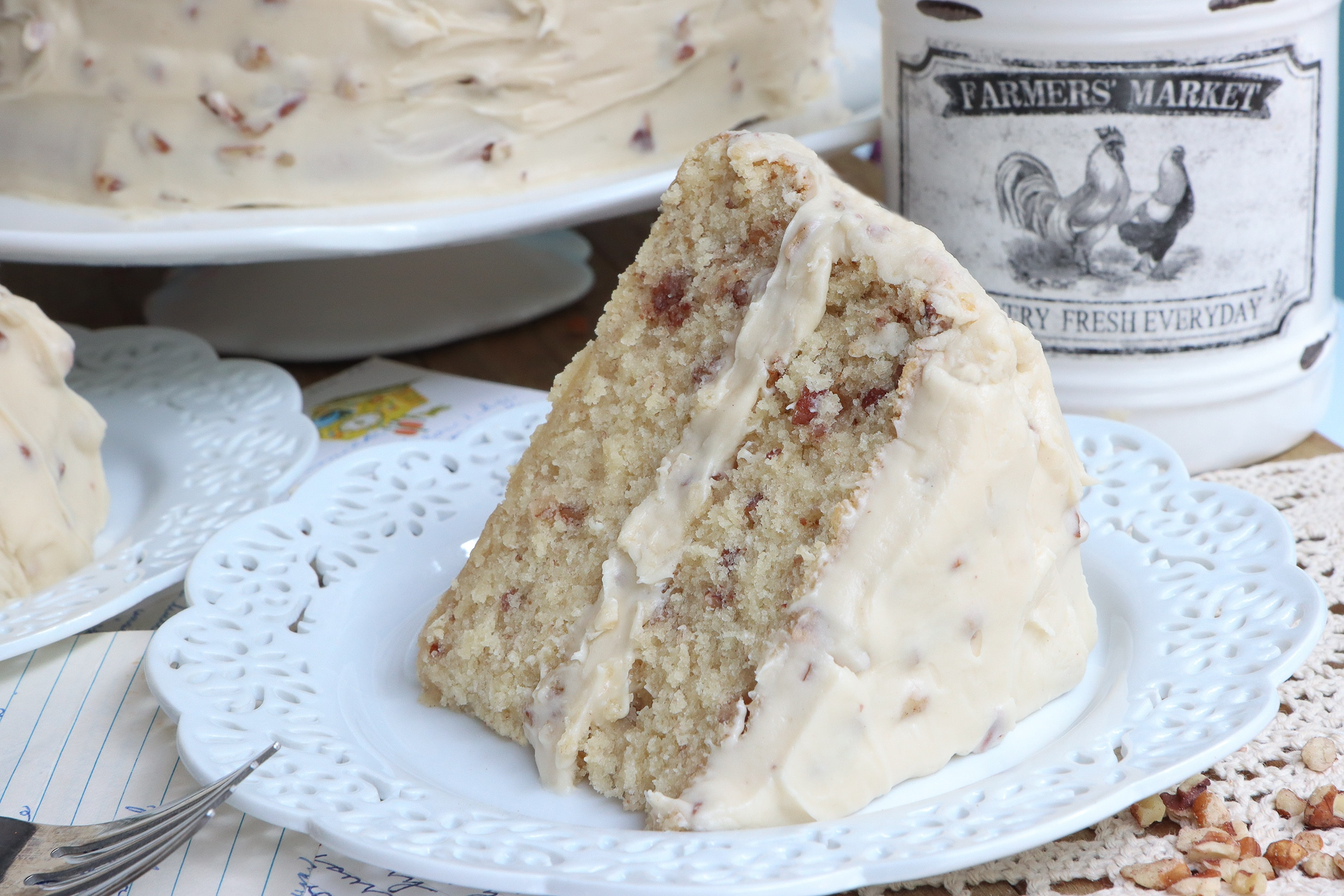 from-scratch southern butter pecan cake