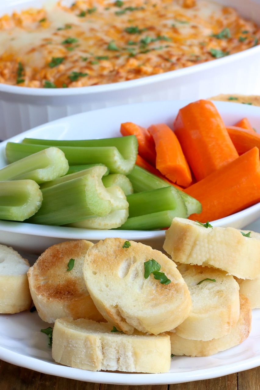 what to serve with buffalo chicken dip